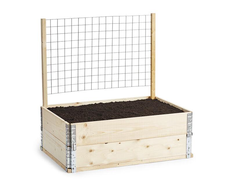 Tukikeppi istutuslaatikon säleikölle, Pituus 100 cm, Puunvärinen