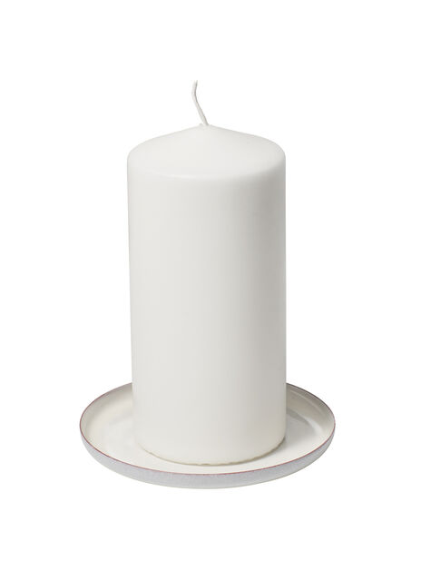 Kynttilänalusta Emily, Ø11 cm, Valkoinen