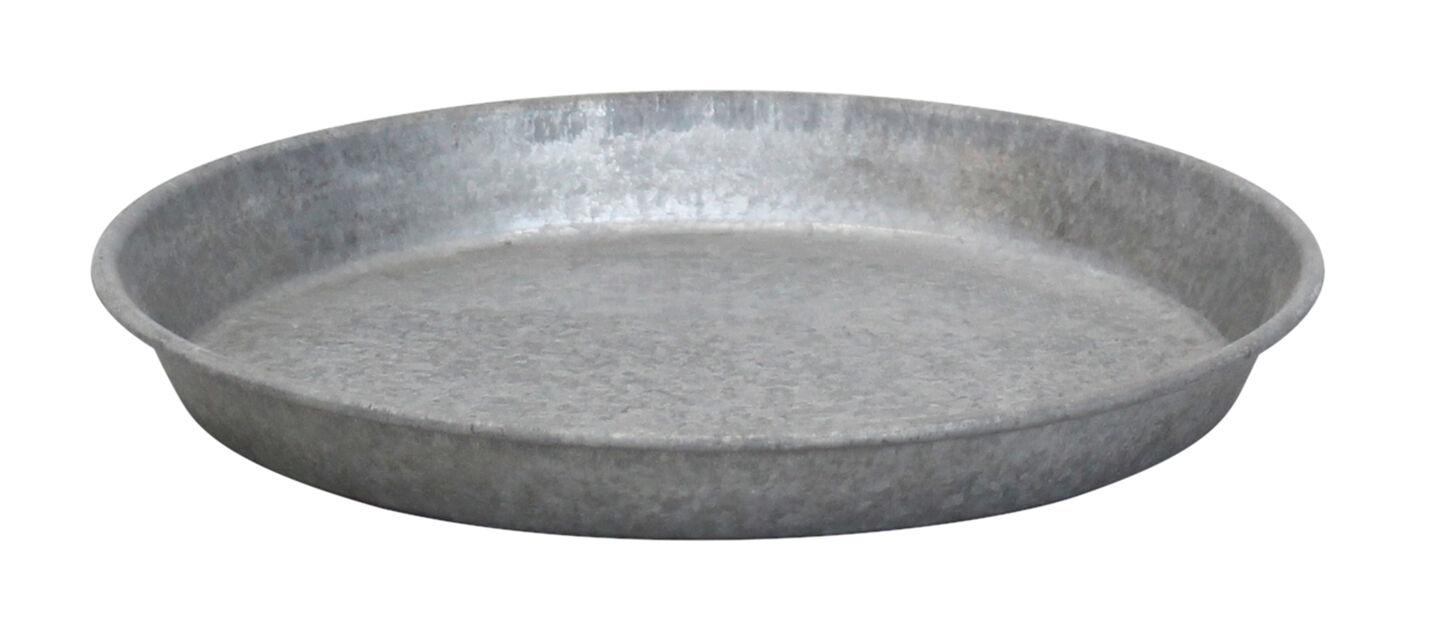 Aluslautanen sinkkiä, Ø26 cm, Harmaa