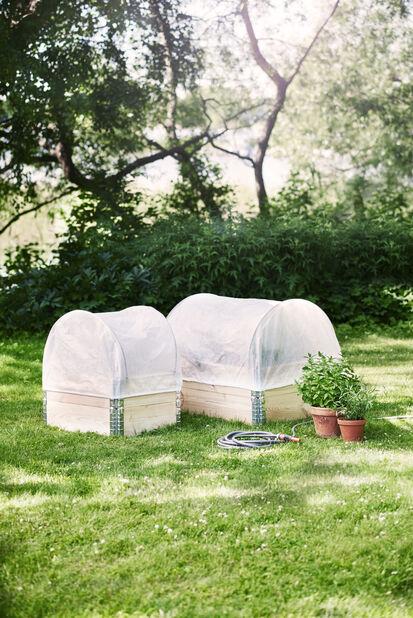 Kuitukangas istututusla, Pituus 120 cm, Valkoinen