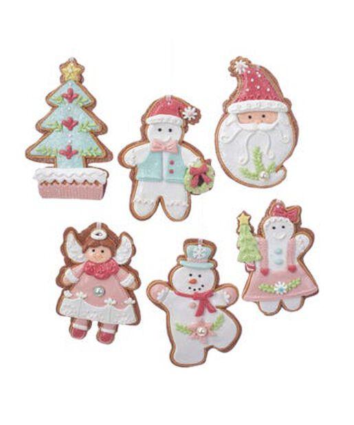 Joulukoriste lumiukko/joulupukki/enkeli/joulukuusi, Korkeus 12.5 cm, Monivärinen