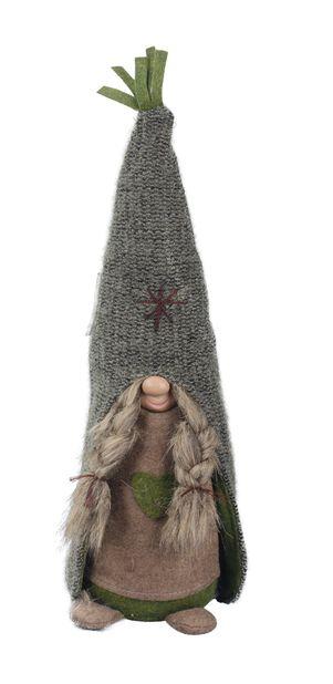 Tonttu Birta, Korkeus 42 cm, Vihreä