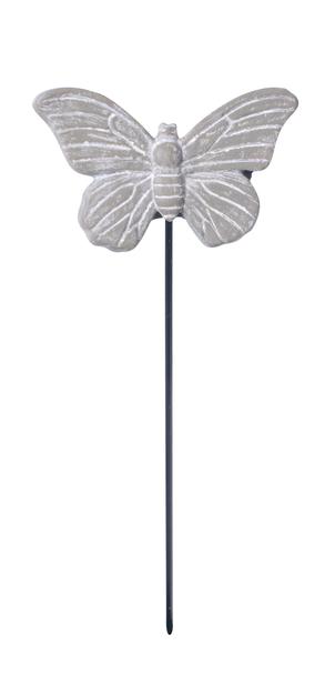 Koristetikku perhonen, Pituus 12 cm, Harmaa