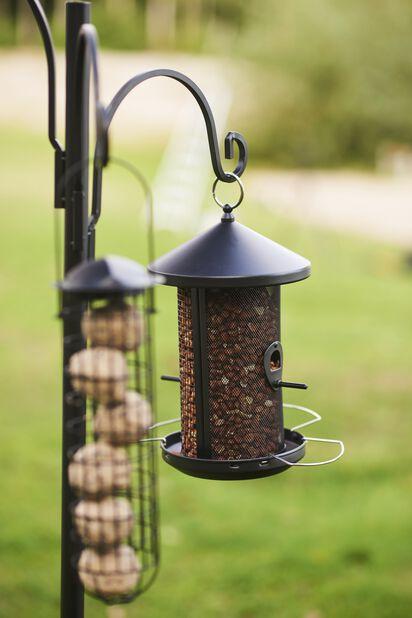 Ruokinta-automaatti siemenille ja pähkinöille, Korkeus 28.5 cm, Musta