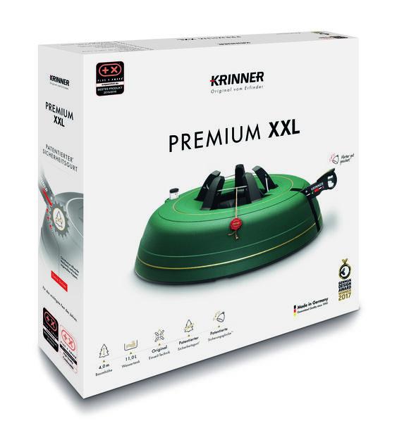 Kuusenjalka Krinner Premium XXL, 11 L, Vihreä