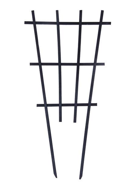 Säleikkö puiselle ruukulle, Korkeus 55 cm, Musta