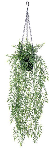 Bambu amppelissa tekokasvi, Korkeus 72 cm, Vihreä