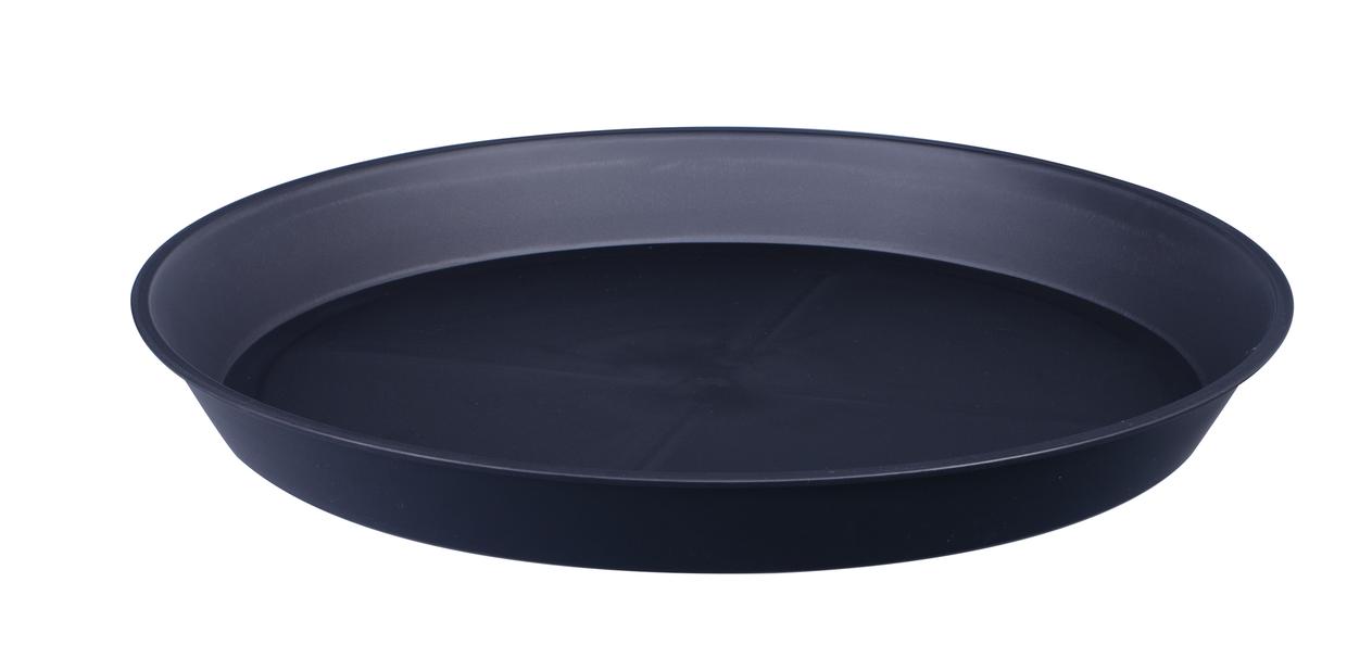 Aluslautanen Floria, Ø33 cm, Musta