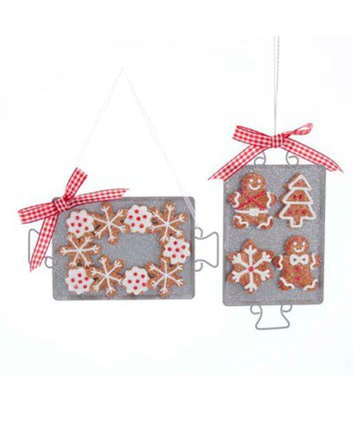 Joulukoriste vastaleivotut piparkakut, Korkeus 15 cm, Monivärinen