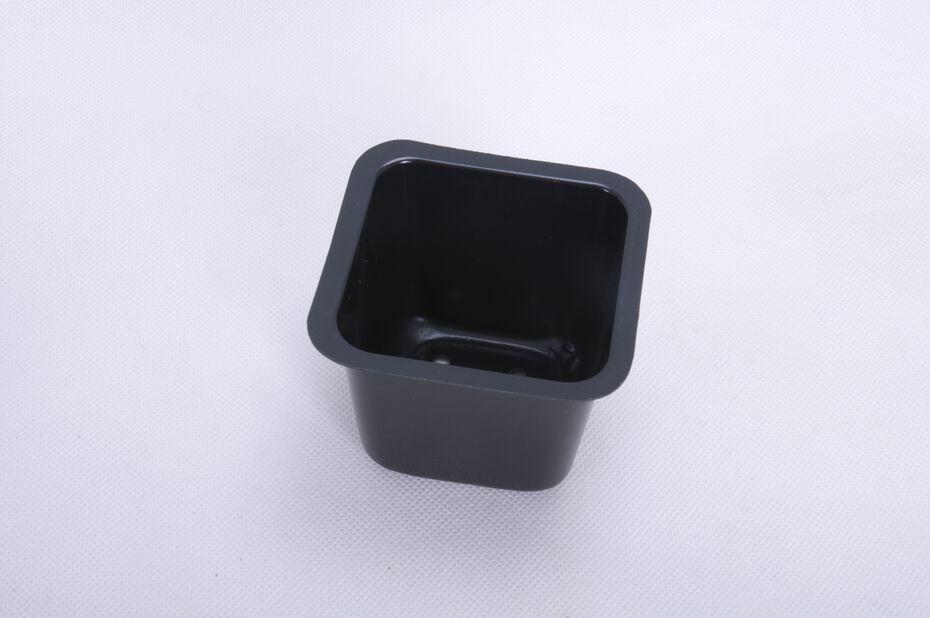 Muoviruukku nelikulmainen 25 kpl/pakk., Leveys 9.5 cm, Musta