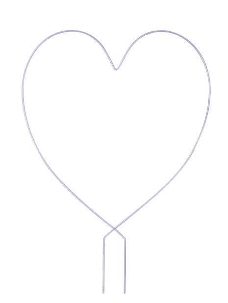 Köynnössäleikkö sydän, Korkeus 38 cm, Harmaa