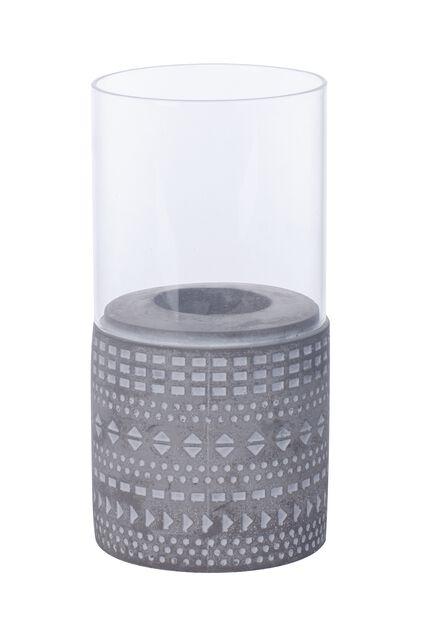Lämpökynttilänjalka Hedda, Korkeus 18 cm, Harmaa