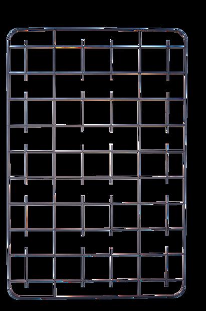 Säleikkö Cultura, Korkeus 114 cm, Musta