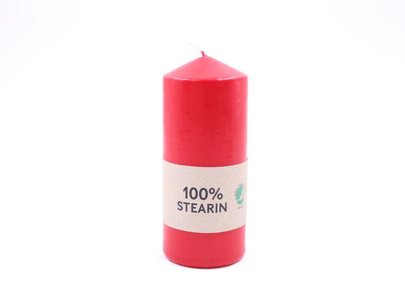Pöytäkynttilä, Korkeus 14 cm, Punainen