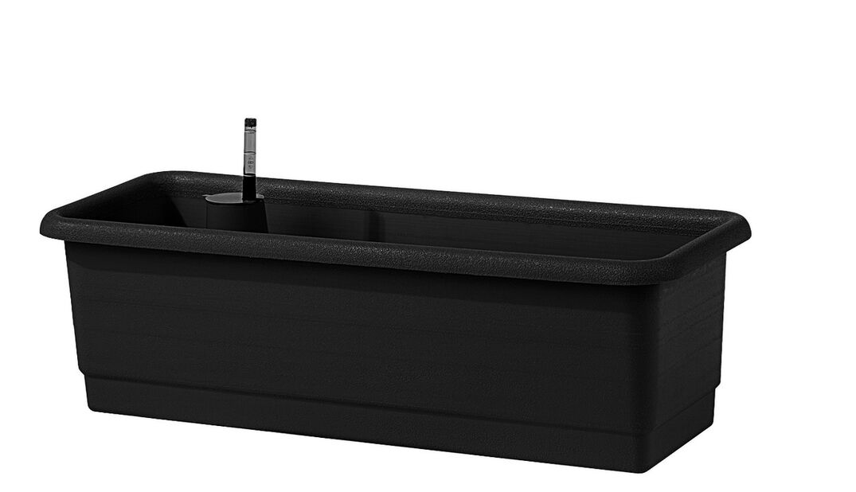 Altakasteleva parvekelaatikko Epoque, Pituus 80 cm, Musta