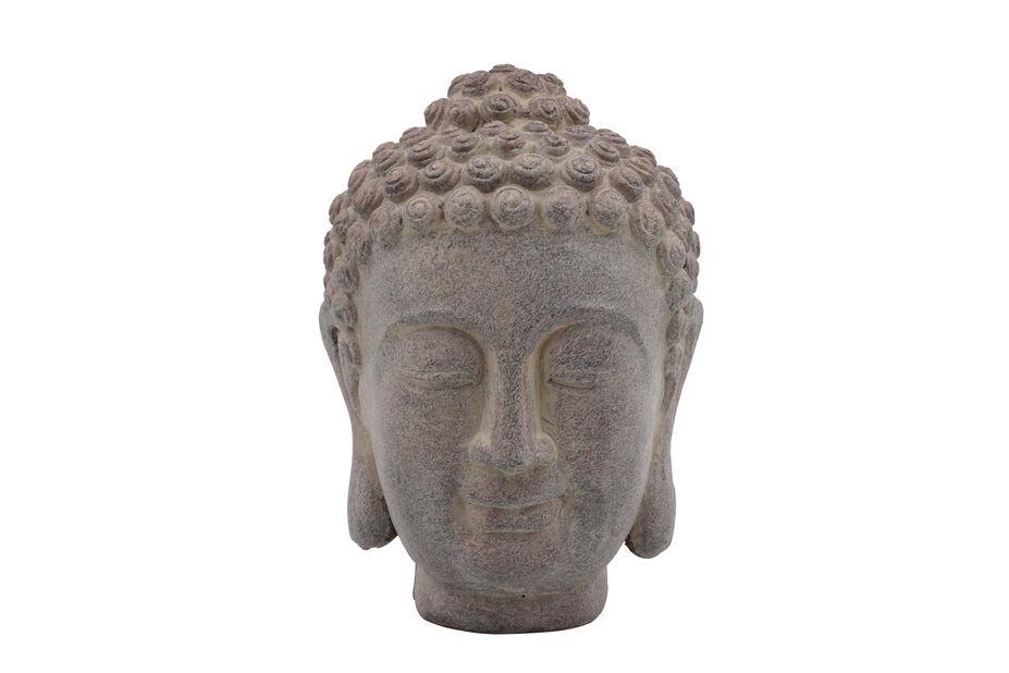 Buddhan pää , Korkeus 23 cm, Harmaa