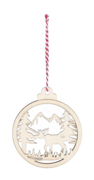 Joulukoriste, Ø10 cm, Puunvärinen
