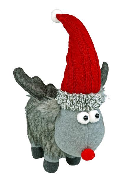 Tonttu Rudolf, Korkeus 20 cm, Harmaa