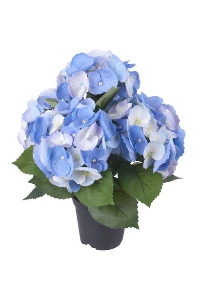 Hortensia ruukussa, K35 cm, sininen, tekokasvi