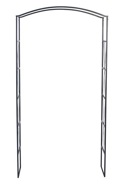 Ruusuportti, Korkeus 220 cm, Musta