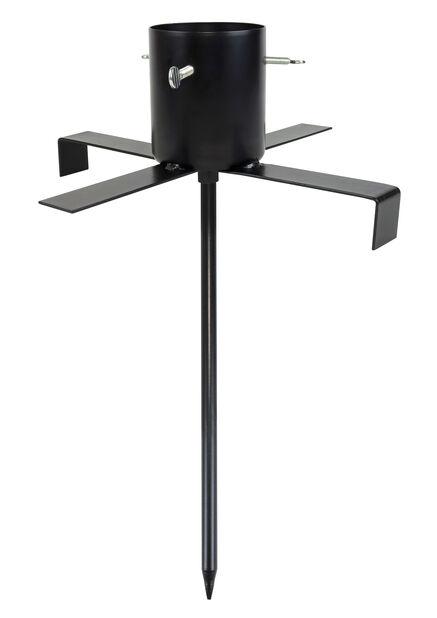 Joulukuusenjalka ulkokäyttöön, Ø35 cm, Musta