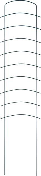 Säleikkö Ortus, Korkeus 118 cm, Vihreä