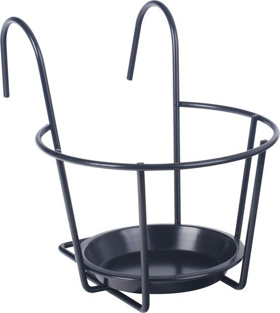 Ruukkuteline parvekkeelle , Ø24 cm, Musta