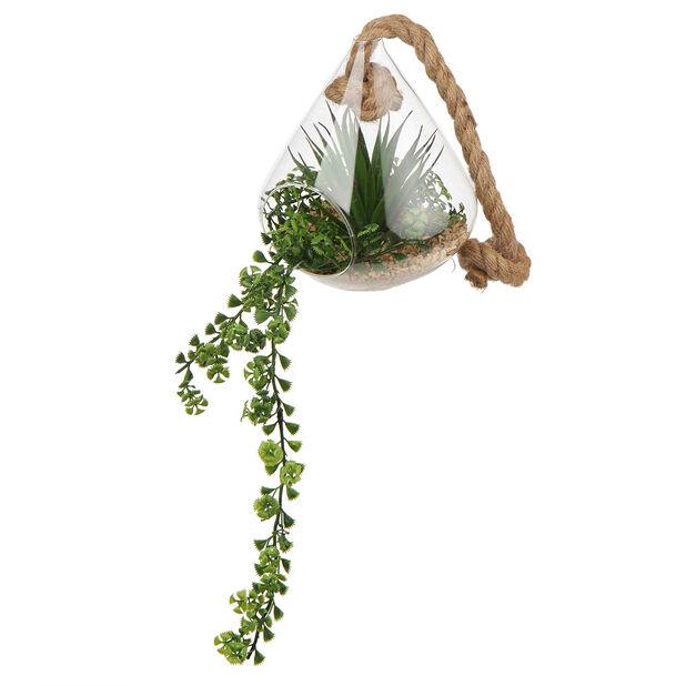 Tekoviherkasvi ruukussa, Korkeus 15 cm, Vihreä