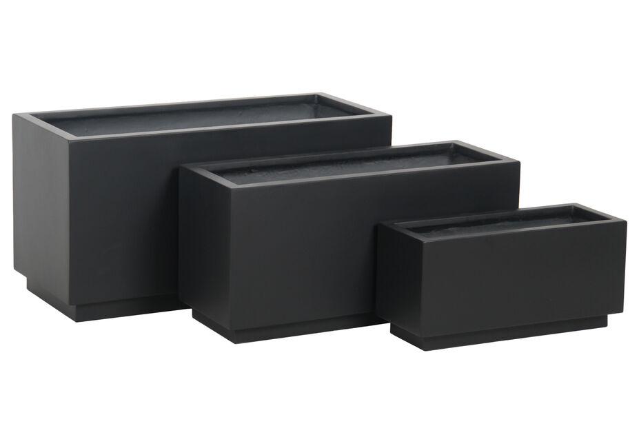 Istutuslaatikko Nova, Pituus 84 cm, Musta