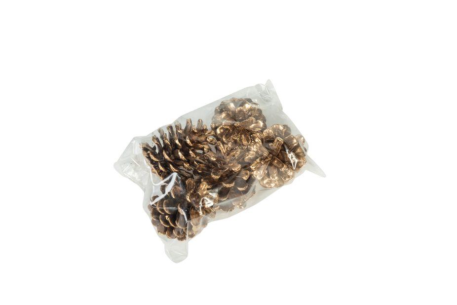 Kullanväriset kävyt, 250 g, Kulta