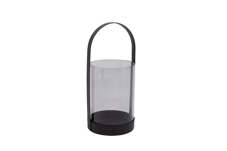Lyhty pöytäkynttilälle, Korkeus 21 cm, Musta