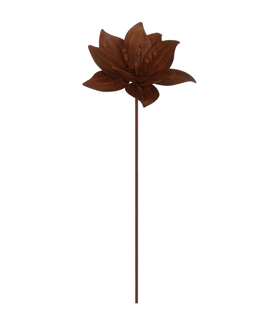 Kukka-koristetikku, Korkeus 70 cm, Ruoste