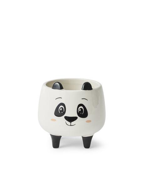 Miniruukku panda, Ø8.5 cm, Valkoinen