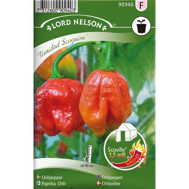 Chilipaprika 'Trinidad Scorpion', Monivärinen