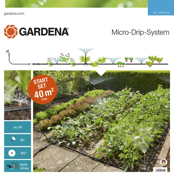 Aloituspaketti Micro-Drip -järjestelmää varten Gardena