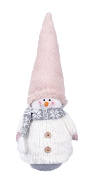 Lumiukko Frosty, Korkeus 45 cm, Valkoinen