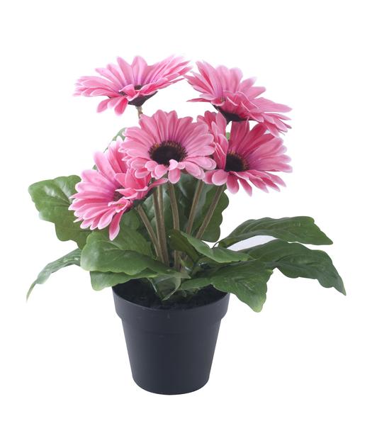 Gerbera ruukussa, K28 cm, roosa, tekokasvi