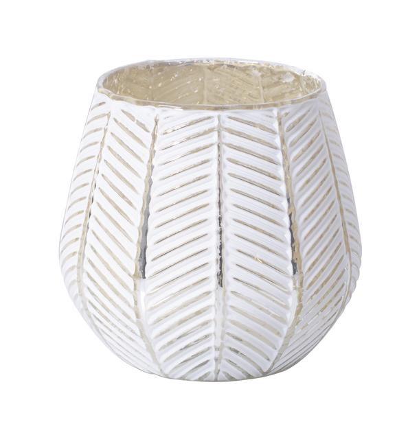 Lämpökynttiläpidike Bianca 10 cm, Korkeus 10 cm, Valkoinen