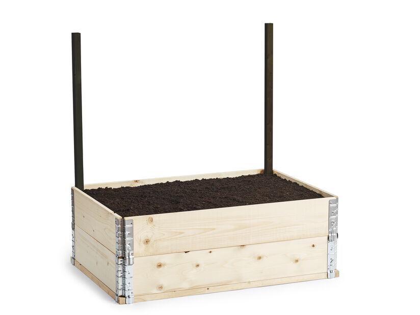 Tukikeppi istutuslaatikon säleikölle, Korkeus 100 cm, Musta