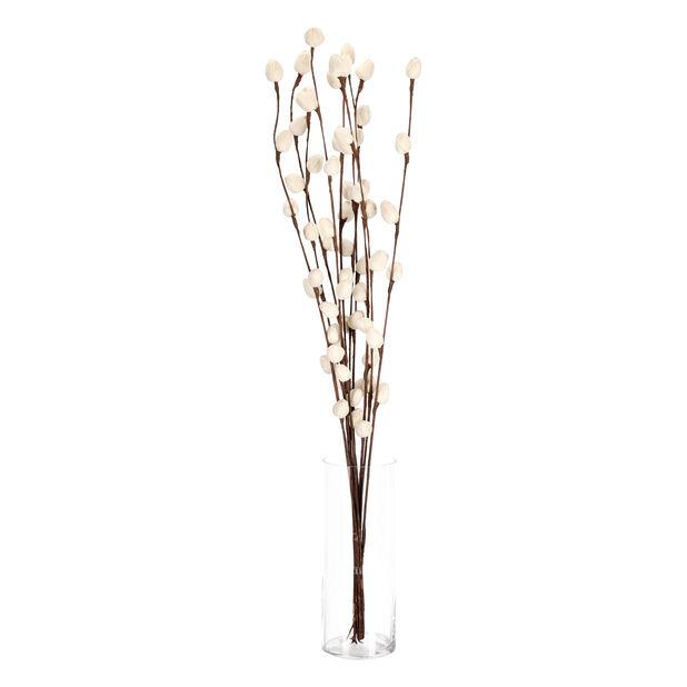 Paperikukka Oksa, Korkeus 85 cm, Luonnonvalkoinen