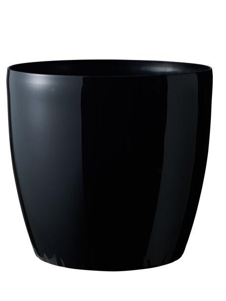 Altakasteluruukku Leva pyörillä, Ø43 cm, Musta