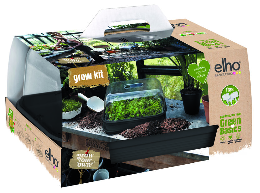 Kylvösetti Green Basics Grow Kit All in one, Pituus 49 cm, Musta