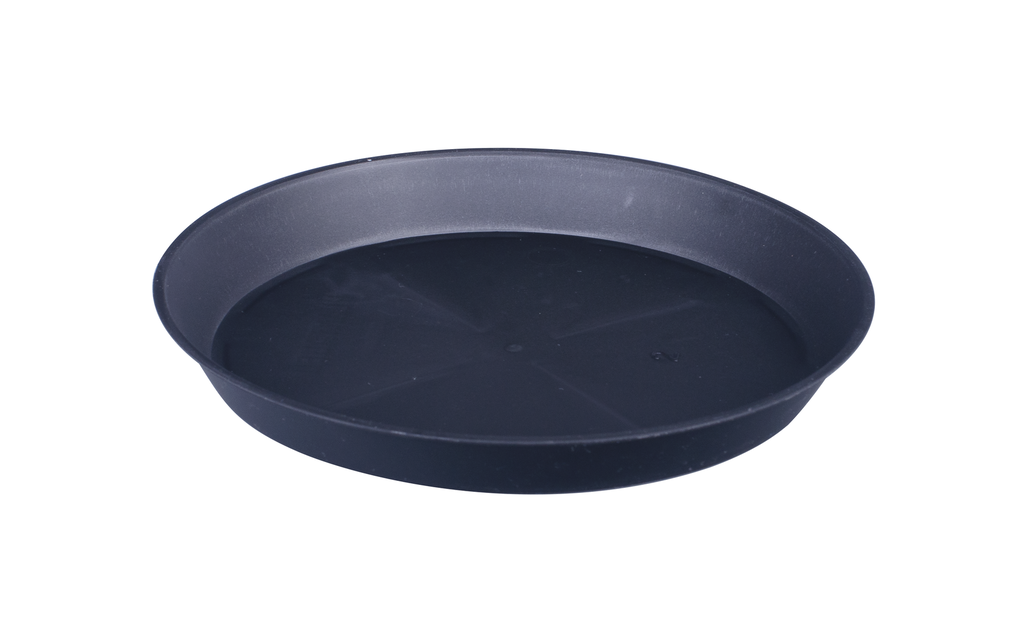 Aluslautanen Floria, Ø11.4 cm, Musta