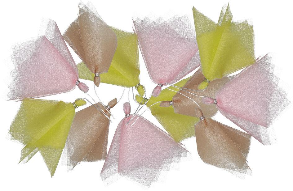 Pääsiäiskoriste tyllikoriste virpomavitsaan, 12 kpl, Useita värejä