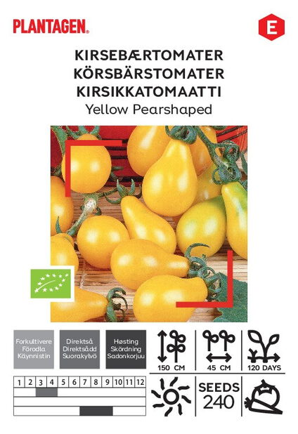 Kirsikkatomaatti 'Yellow Pearshaped'