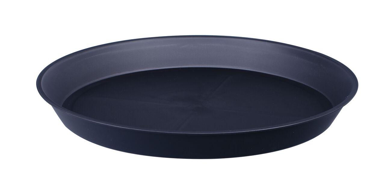 Aluslautanen Floria, Ø23 cm, Musta