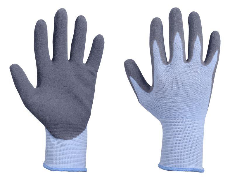 Nitriilipinnoitetut puutarhakäsineet, M, Sininen