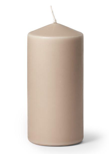 Pöytäkynttilä, Korkeus 14 cm, Harmaa