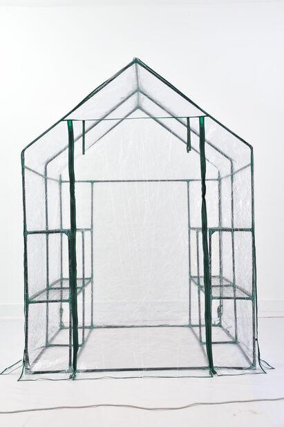 Siirrettävä kasvihuone, Korkeus 195 cm, Läpinäkyvä