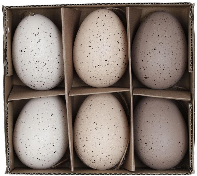 Pääsiäiskoriste ripustettava muna, Korkeus 6 cm, Useita värejä
